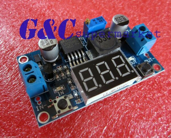 DC-DC Buck Step Down Converter Module LM2596 Voltage Regulator+Led Voltmeter M3