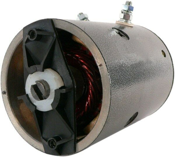 Snow Plow Motor Fisher and Western Horizontal Mount Pump and Reservoir Assembly