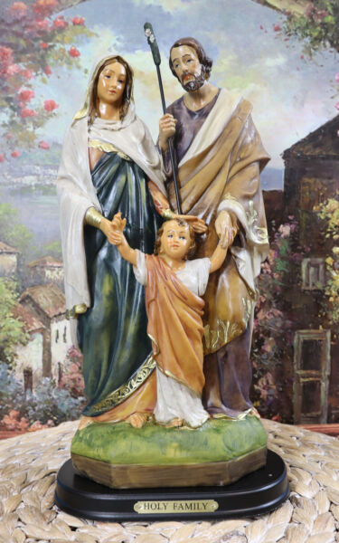Blessed Holy Family Statue 12quot;H Statue Mother Mary Joseph Child Jesus Catholic