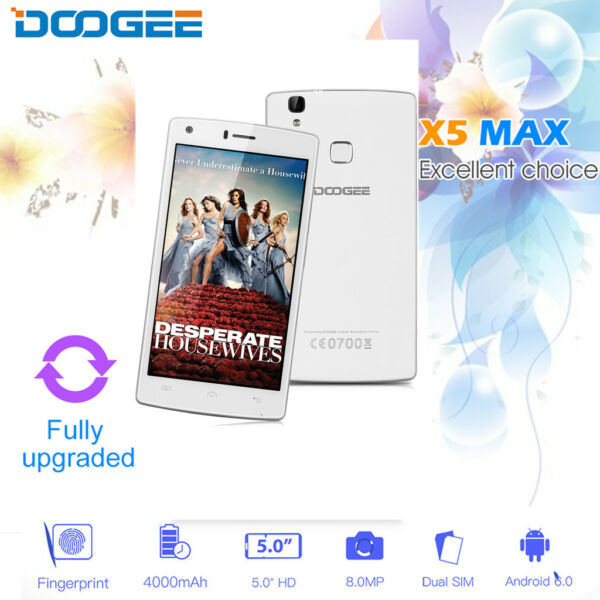 5.0'' 4G LTE Smartphone Android5.1 2GB +16GB DOOGEE X5 Pro Cellulare Dual SIM IT