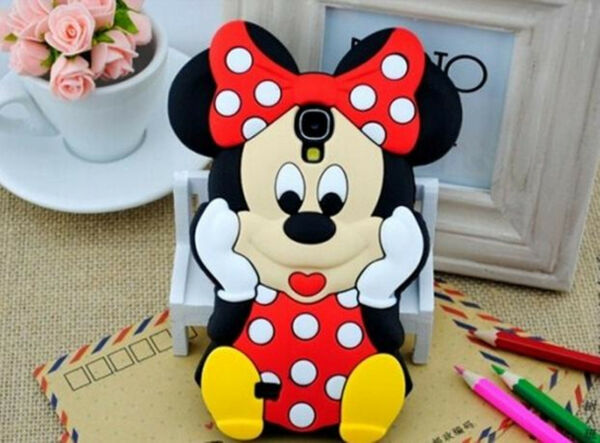 Minnie Mouse 3D Cute Soft Silicone Gel Cover Case For Samsung Mobile Phones