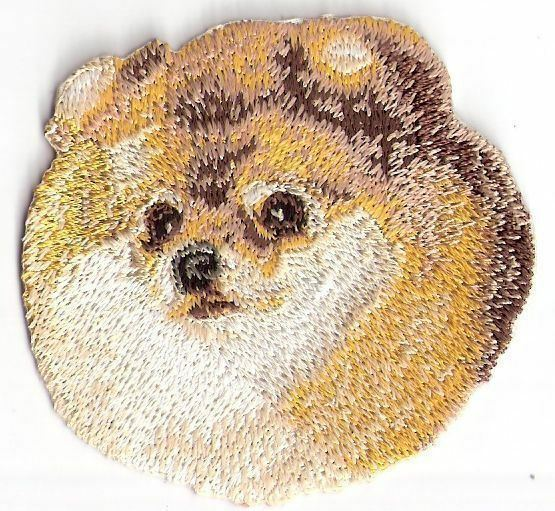 2.5quot; Pomeranian Dog Breed Embroidery Patch $2.99