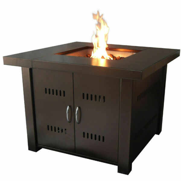 Outdoor Fire Pit Table Patio Deck Backyard Heater Fireplace Propane LP Furniture