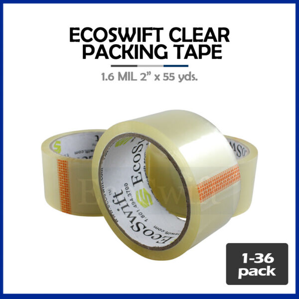 1-36 Roll EcoSwift Packing Packaging Carton Box Tape 1.6mil 2