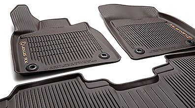 GENUINE LEXUS 2016-2020 RX350  RX450h All Weather Floor LINERS Mats Brown