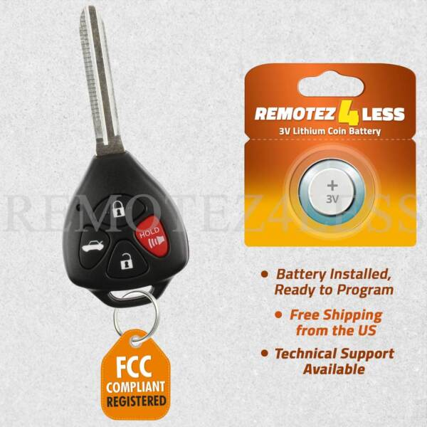 Replacement for 2011 Toyota Camry Keyless Entry Remote Car Control Key Fob G