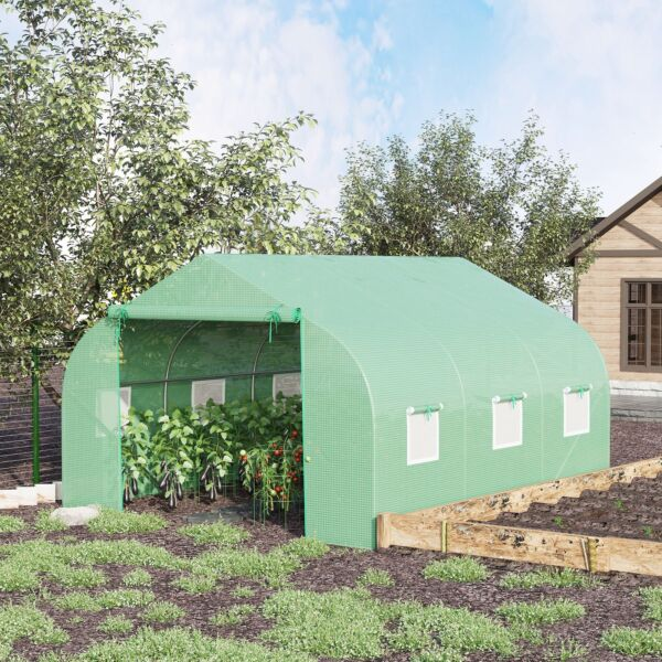 Greenhouse 12#x27;x10#x27;x7#x27; Large Portable Walk in Hot Green House Plant Gardening
