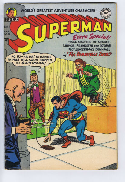 Superman #88 DC Pub 1954 Mitchell Moran copy