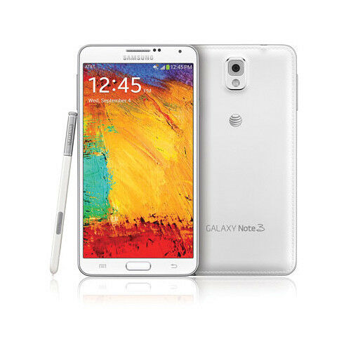 New Samsung N900A Note 3 AT&T Unlocked 4G GSM 32GB Android SmartPhone White