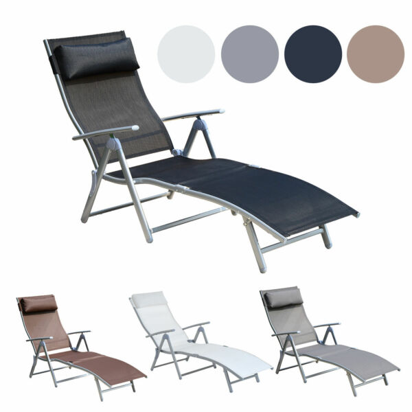 Chaise Lounge Chair Folding Pool Beach Yard Adjustable Patio Furniture Recliner $109.99