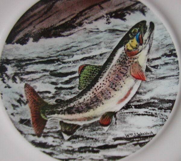 LL Bean Delano Wildlife Collectible Plate - Golden Trout Fish
