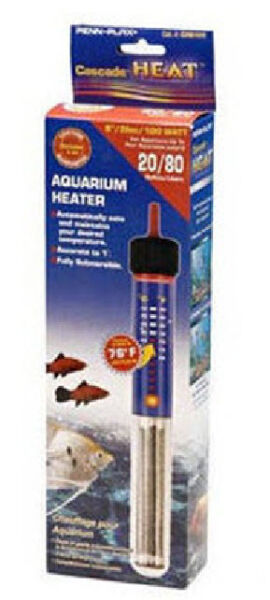 CASCADE 200 WATT SUBMERSIBLE HEATER. 10 INCH FOR 55 GALLON AQUARIUM
