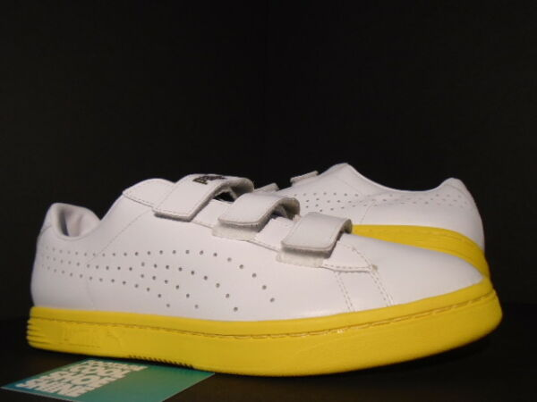 PUMA COURT STAR STRAPS GV SPECIAL WHITE DANDELION YELLOW GOLD 357723-07 NEW 11.5