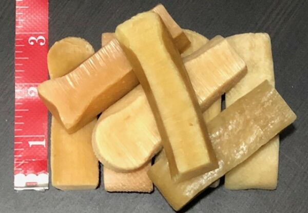 6 Pcs FRESH Himalayan Dog Chew Bulk SMALL Treat Bone Cheese GENUINE Yak Himal