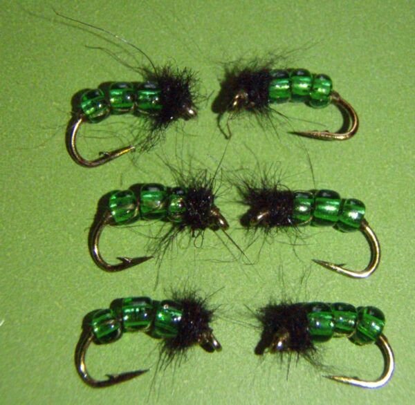 Green Glass Caddis Wet Nymph Fly size 16 HOT PATTERN $7.95