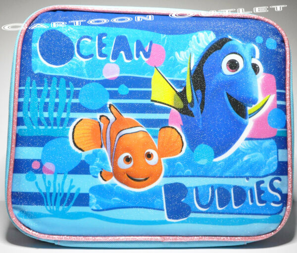 FINDING NEMO DORY LUNCH BAG BOX MESSENGER INSULATED TOTE SNACK BAG  PAIL NWT BLU
