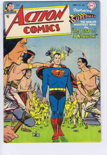 Action Comics #200 DC Pub 1954 Mitchell Moran copy