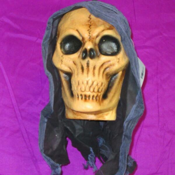 LIFE SIZE~3D FLOATING REAPERZOMBIE HEAD~Hanging Halloween DecorationYardProp