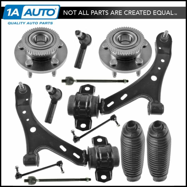 Front Control Arm Tie Rod Sway Bar Link Boot Bellow Wheel Hub Assembly Kit 12pc