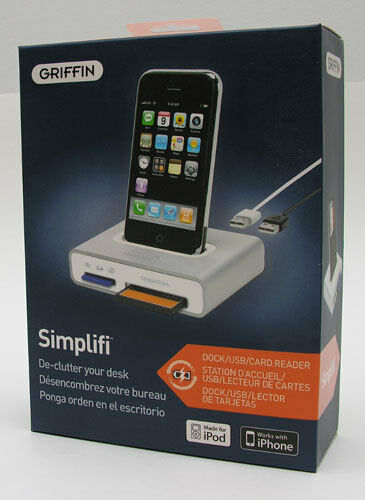 Griffin Simplifi Desktop Dock Charger Card Reader for iPod Classic iPhone 4S NEW
