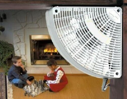FAN DOORWAY AIR CIRCULATOR Corn Pellet Insert Stove