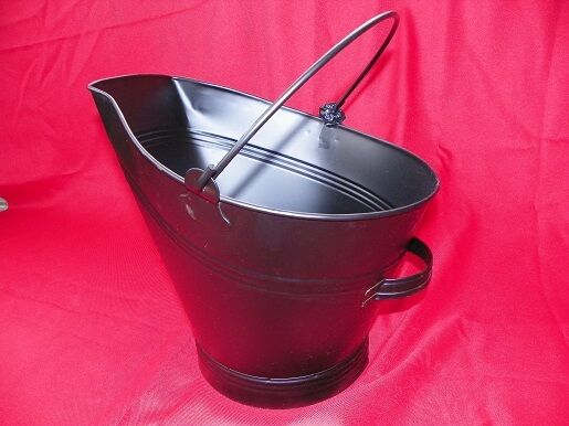 COAL HOD ANTIQUE REPLICA PAIL CORN WOOD PELLET STOVE INSERT Rear Handle