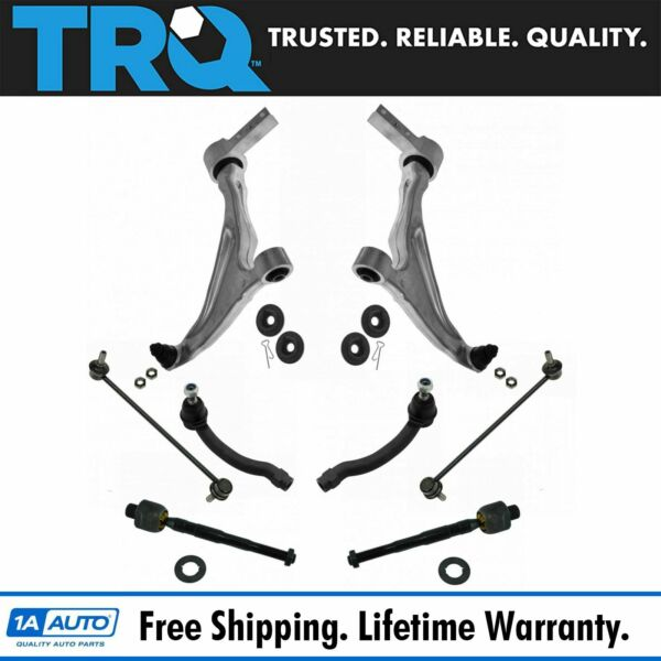 TRQ 8pc Kit Tie Rod End Control Arm Ball Joint Sway Bar Link LH RH for Pilot New