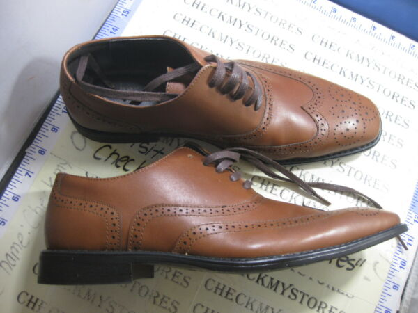 Asher Green ethan 054625 oxford LEATHER SHOES 10.5 M STORE DISPLAY.TAN COLOR