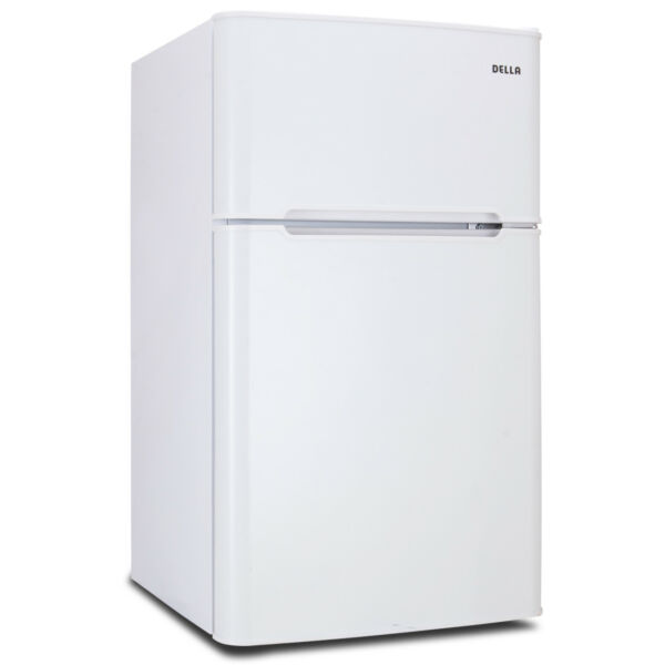 3.2 cu ft Mini Refrigerator and Freezer Small Compact Dorm Office Fridge White