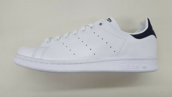 ADIDAS ORIGINALS STAN SMITH WHITE NEW NAVY BLUE MENS SIZE SNEAKERS M20325