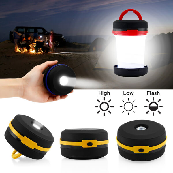 Portable Camping Lantern USB LED Hiking Night Light Lamp Collapsable Flashlight