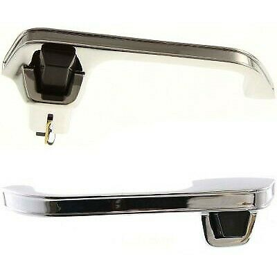 Exterior Door Handle For 78-86 Chevrolet C10 87 R10 Set of 2 Front Chrome Metal