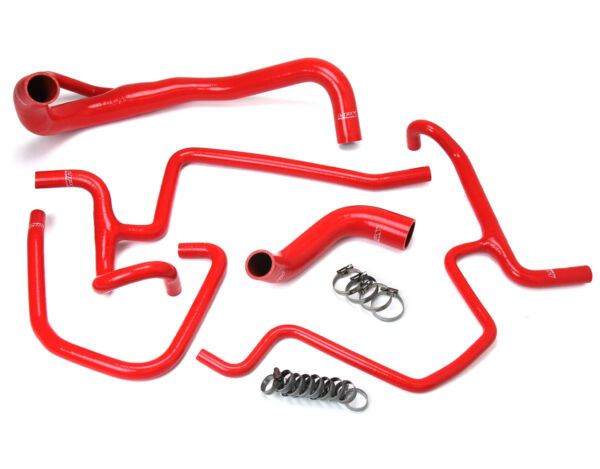 HPS Red Charger Silicone Radiator Heater Hose Kit Coolant OEM 57 1646 RED