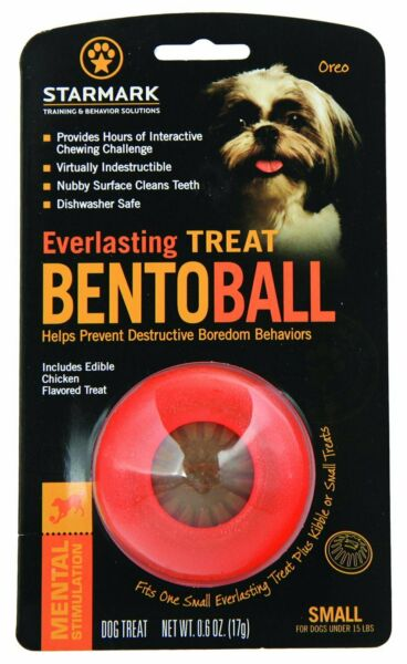 StarMark EVERLASTING BENTO BALL Dog Toy Chew and Treat SMALL