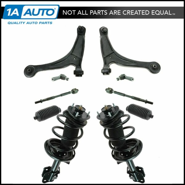 Front Strut Control Arm Tie Rod Sway Bar Boot Steering Suspension Kit Set 12pc