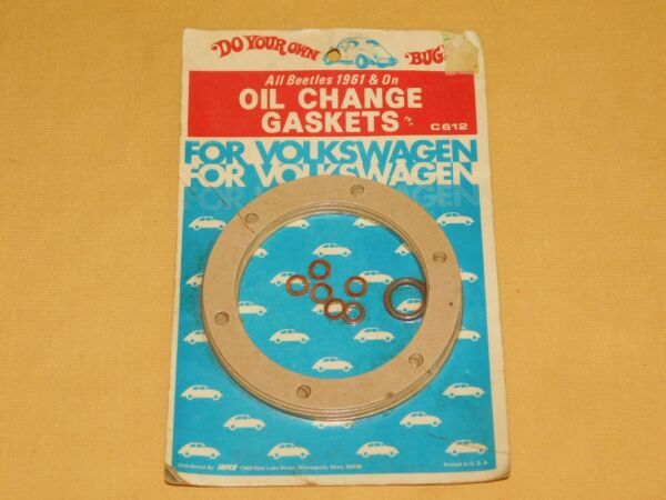 VINTAGE VW VOLKS WAGON OLD CAR AUTO OIL CHANGE GASKETS ALL BEETLES 1961