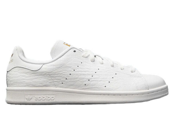 Adidas Original classic Stan Smith CROC gold/ white mens sneaker/ SHOES new