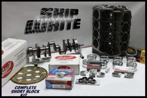 SBC CHEVY 406 DART SHORT BLOCK FORGED +5cc DOME 4.155 PISTONS SCAT CRANK
