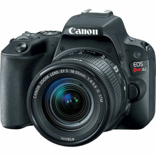 Canon EOS Rebel SL2 DSLR Camera w/ 18-55mm Lens (Black) 2249C002