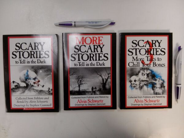 Scary Stories to Tell in the Dark SET ( Book 1, 2, 3 ) by Alvin Schwartz, NEW!