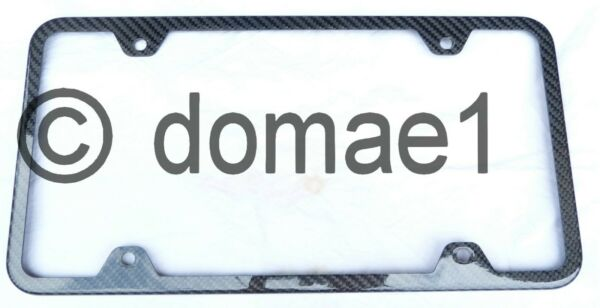2 x frontrear real carbon fiber license plate frames holder covers $150.00