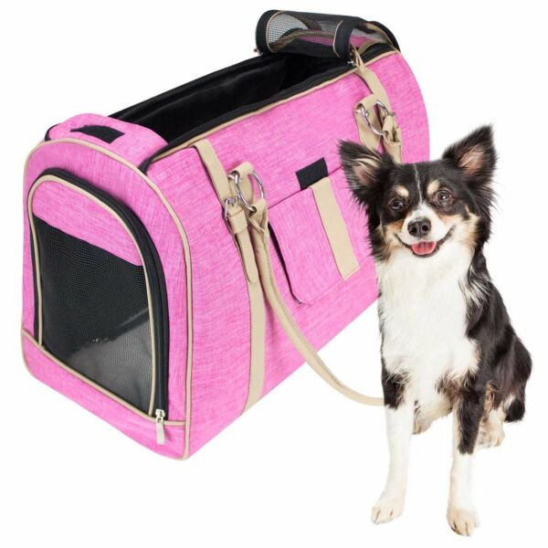 NEW Large FrontPet Soft Pet Carrier Pink Pet Carrier Purse Airline approved $14.95