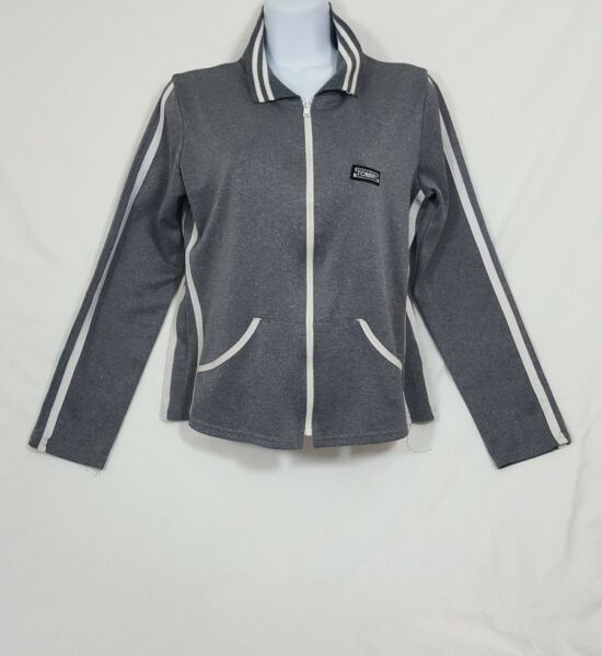 Tommy Women#x27;s Gray Zippered Jacket Size Medium $14.99