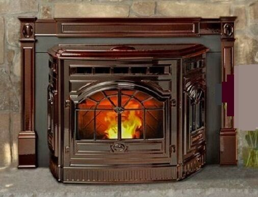 FIREPLACE INSERT VINTAGE CORN PELLET STOVE CAST IRON Antique Frame Replica NEW