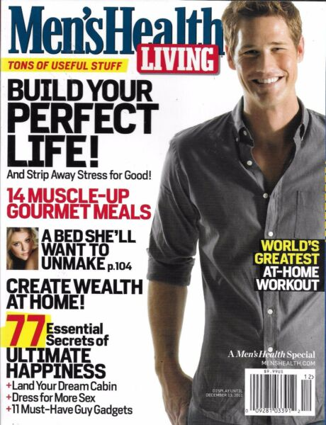 Men's Health Living Magazine Muscle Gourmet Meals Home Wealth Workouts Food 2011