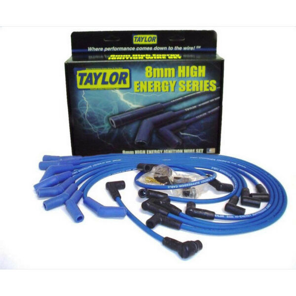 Taylor Spark Plug Wire Set 64658; High Energy 8.0mm Blue for Ford 302351W SBF