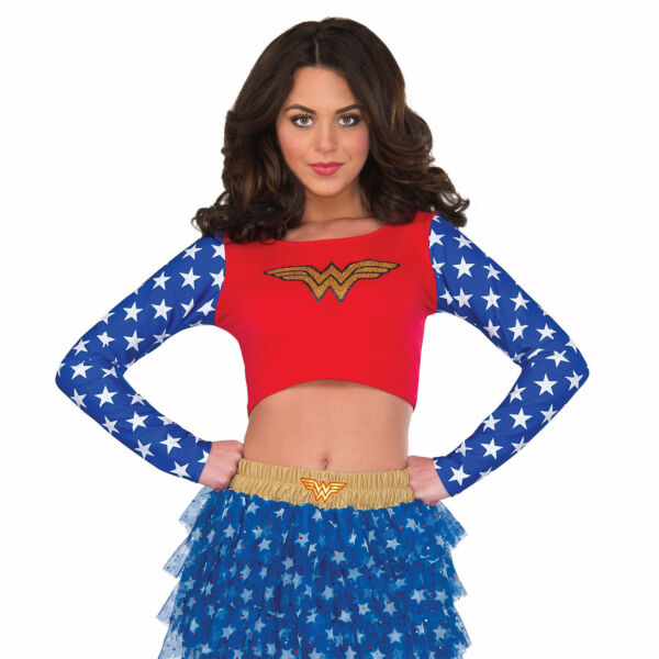 Wonder Woman Crop Top Red
