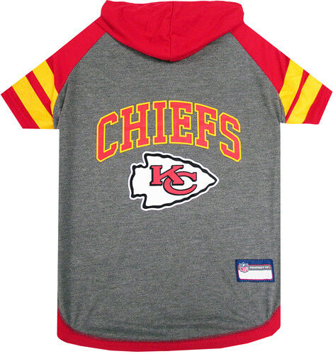 KANSAS CITY CHIEFS Tee Hoodie NFL Dog Pets First all sizes $18.69