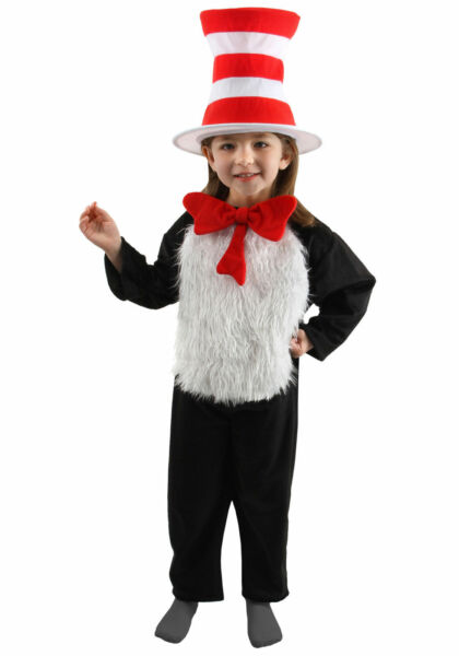 Dr. Seuss The Cat In The Hat Deluxe Child Costume Elope