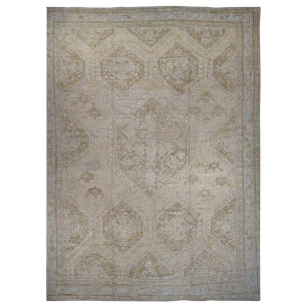 19'2''x24'7'' Hand-Knotted Antique Turkish Oushak Exc Cond Oversize Rug